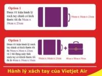 Quy Định hành lý xách tay của Vietjet